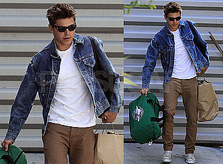 Pictures of Zac Efron Leaving House in LA