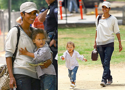 Pictures of Halle Berry and Nahla Riding Ponies at Park