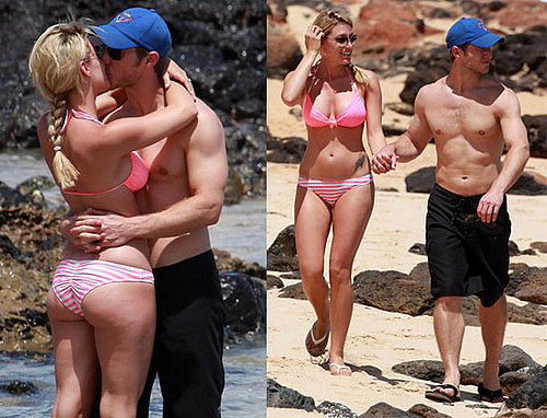 Pictures of The Bachelor's Jake Pavelka and Vienna Girardi Going Shirtless and Wearing a Bikini in Hawaii
