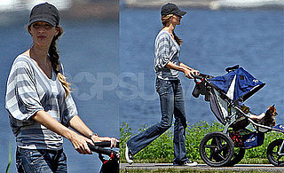 Pictures of Gisele Bundchen Strolling With Benjamin Brady and Her Dog Vida