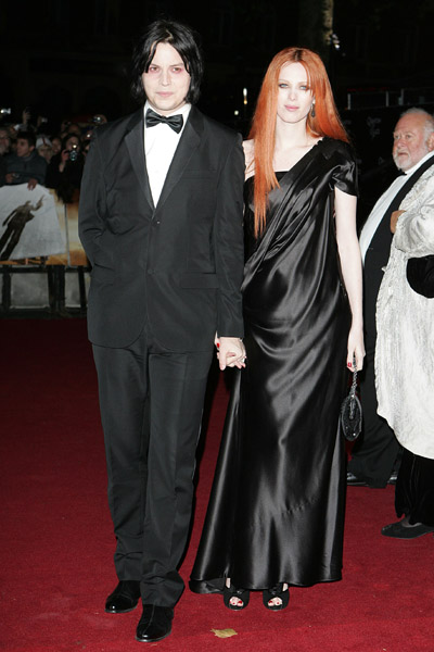 Karen and Jack dressed in black at the Quantum of Solace premiere in London.