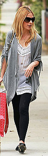 Sarah Michelle Gellar Wears Sheer Tunic and Black Leggings