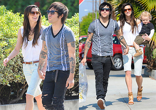 Pictures of Pete Wentz, Ashlee Simpson, and Bronx Holding Hands in LA