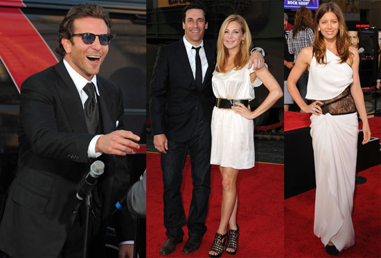 Pictures of Bradley Cooper and Jessica Biel at The A-Team Premiere in LA