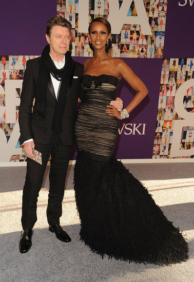 David Bowie and Iman in Giambattista Valli