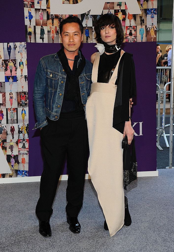 Phillip Lim with Irina Lazareanu in his design