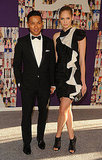 Prabal Gurung with Heidi Mount in his design