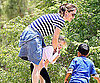 Slide Picture of Jennifer Garner and Violet at Park