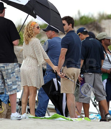 Pictures of Kate Hudson Filming Something Borrowed