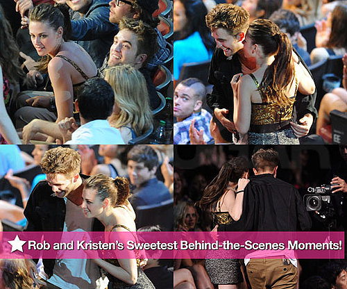 Pictures of Robert Pattinson and Kristen Stewart During MTV Movie Awards
