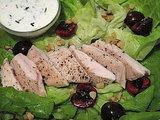 Photo Gallery: Seared-Chicken Salad with Cherries and Goat Cheese Dressing