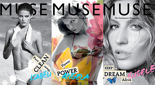 Pictures of Gisele, Isabeli and Angela's Eco-Conscious Muse Covers