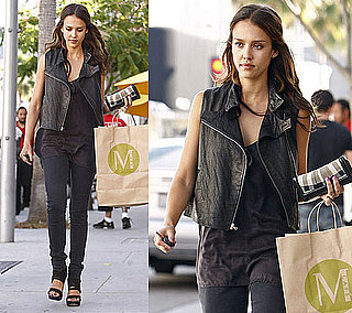Pictures of Jessica Alba in Black Moto Vest 2010-06-08 12:30:22