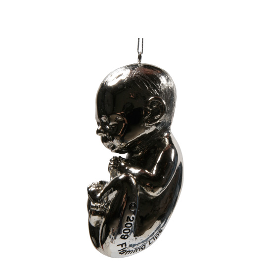 Silver Fetus Ornament: Cute or Creepy?