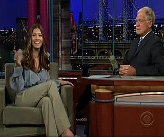 Video of Jessica Biel Telling David Letterman About Getting Lost While Snowboarding