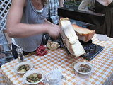 Serving Raclette