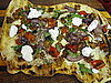 Grilled Pizza With Hot Sausage, Grilled Peppers, and Onions Recipe