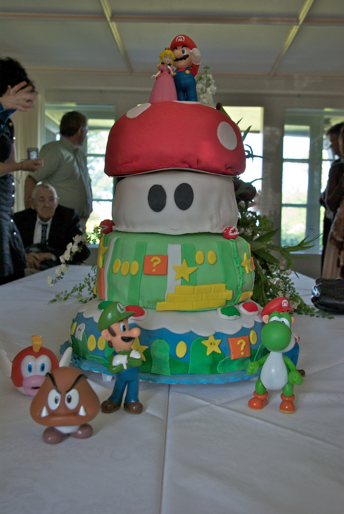 Use extra figurines to make the cake especially geeky.   Source: Flickr User jcf