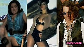 Video of Salma Hayek and a Snake, Video of Rihanna in Underwear, and Video of Johnny Depp Through the Years 2010-06-09 14:40:26