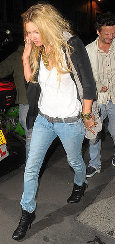 Pictures of Kate Moss in Baby Blue Denim