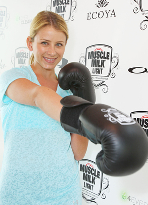 Pictures of Lo Bosworth and Kat Von D at the Muscle Milk Light Fitness Event