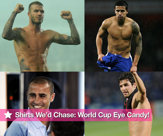 Pictures of Hot, Shirtless World Cup Football Players