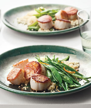 Scallops With Snow Peas and Orange Recipe