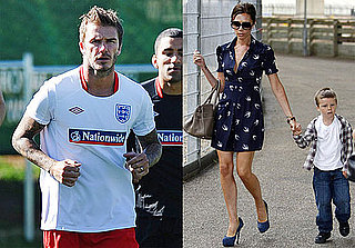 Pictures of Victoria Beckham With Brooklyn, Cruz, and Romeo While David Practices at World Cup