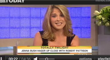 Video of Robert Pattinson on The Today Show