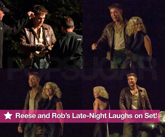 Pictures of Reese Witherspoon and Robert Pattinson Filming Water For Elephants at Night