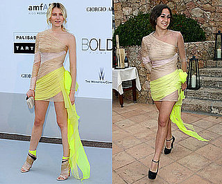 Dree Hemingway and Delfina Delettrez Fendi Wearing the Same Yellow and Nude Valentino Dress 2010-06-14 12:00:22