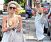 Photos of Alex Curran in White Maxi Dress for First England Game of World Cup