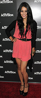 Vanessa Hudgens in Pink Dress at Activision Party