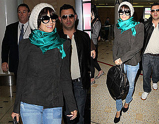 Pictures of Nicole Richie Arriving in Australia