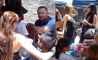 Pictures of Angelina Jolie at a School Fair With Maddox