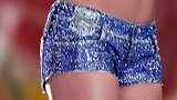 These custom-made Swarovski Diesel Mintha daisy dukes that Katy tweeted about are a sequin lover's dream. Present.