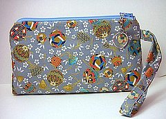 Wristlet in Japanese Fabric