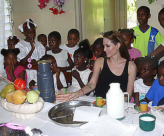 Picture of Angelina Jolie at Children's Village in Haiti 2010-06-21 16:00:00