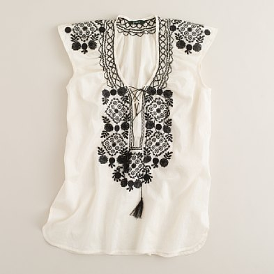 Flower Mosaic Embroidered Tunic ($35, originally $78)