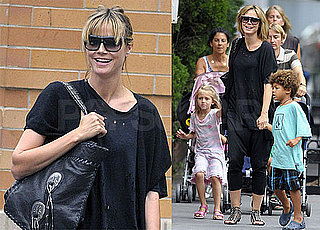 Pictures of Heidi Klum in NYC With Her Children, Johan, Leni, and Henry Samuel