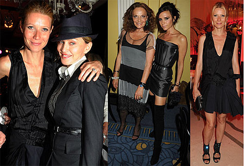 Pictures of Victoria Beckham, Madonna, Gwyneth Paltrow and Diane von Furstenberg at Claridge's 2010-06-24 06:00:00