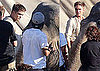 Pictures of Robert Pattinson With Elephant on Set of Water For Elephants 2010-06-23 21:08:04