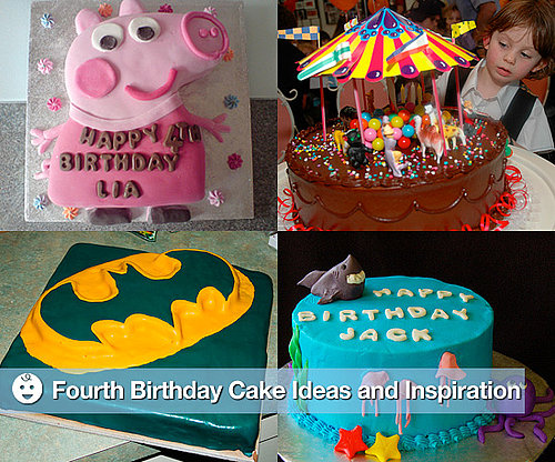 Fourth Birthday Party Cakes Ideas and Inspiration