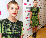 Photos of Agyness Deyn in a Tie Dye Dress at the Nylon Party 2010-06-23 03:30:27