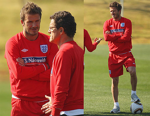 Pictures of David Beckham Practicing With England's World Cup Soccer Team 2010-06-24 11:30:00