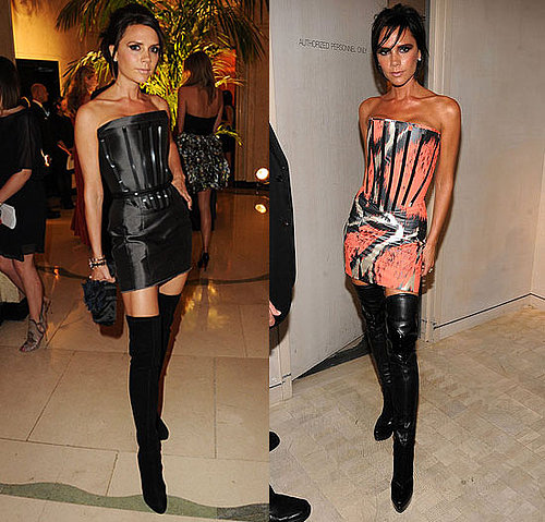 Photos of Victoria Beckham Wearing Giles Dress Twice 2010-06-24 14:00:22