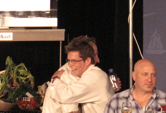 And the winner is . . . Rick Bayless for his lobster dish!