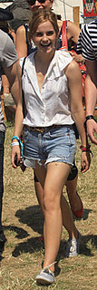 Emma Watson Wears Jean Shorts and Keds to Glastonbury