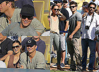 Pictures of Zac Efron, Demi Moore, Ashton Kutcher, and Jack Nicholson at the Dodgers Game