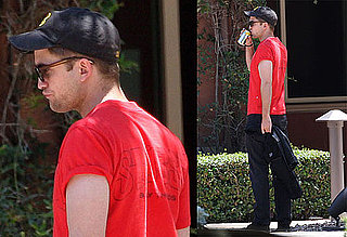 Pictures of Robert Pattinson Meeting With Jeffrey Katzenberg inLA